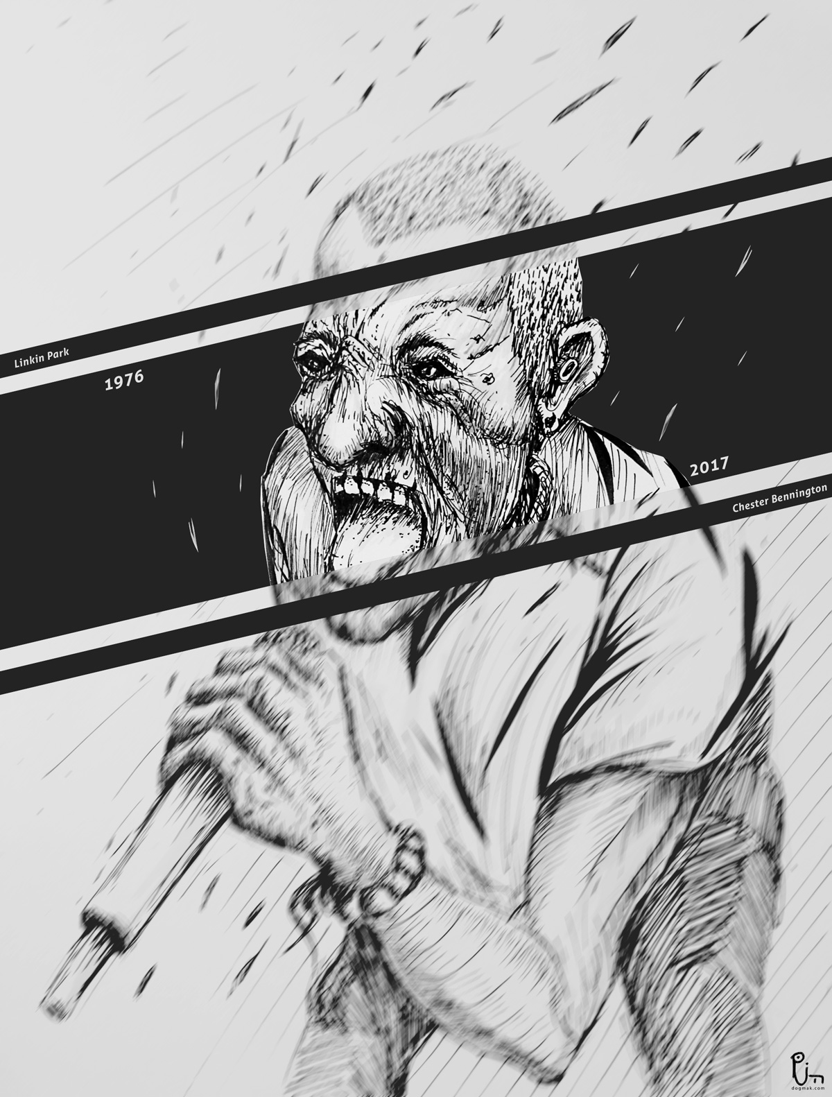 Linkin Park Ricardo Imbachi Mera Concept Art Diseño de Personajes Chester Bennington