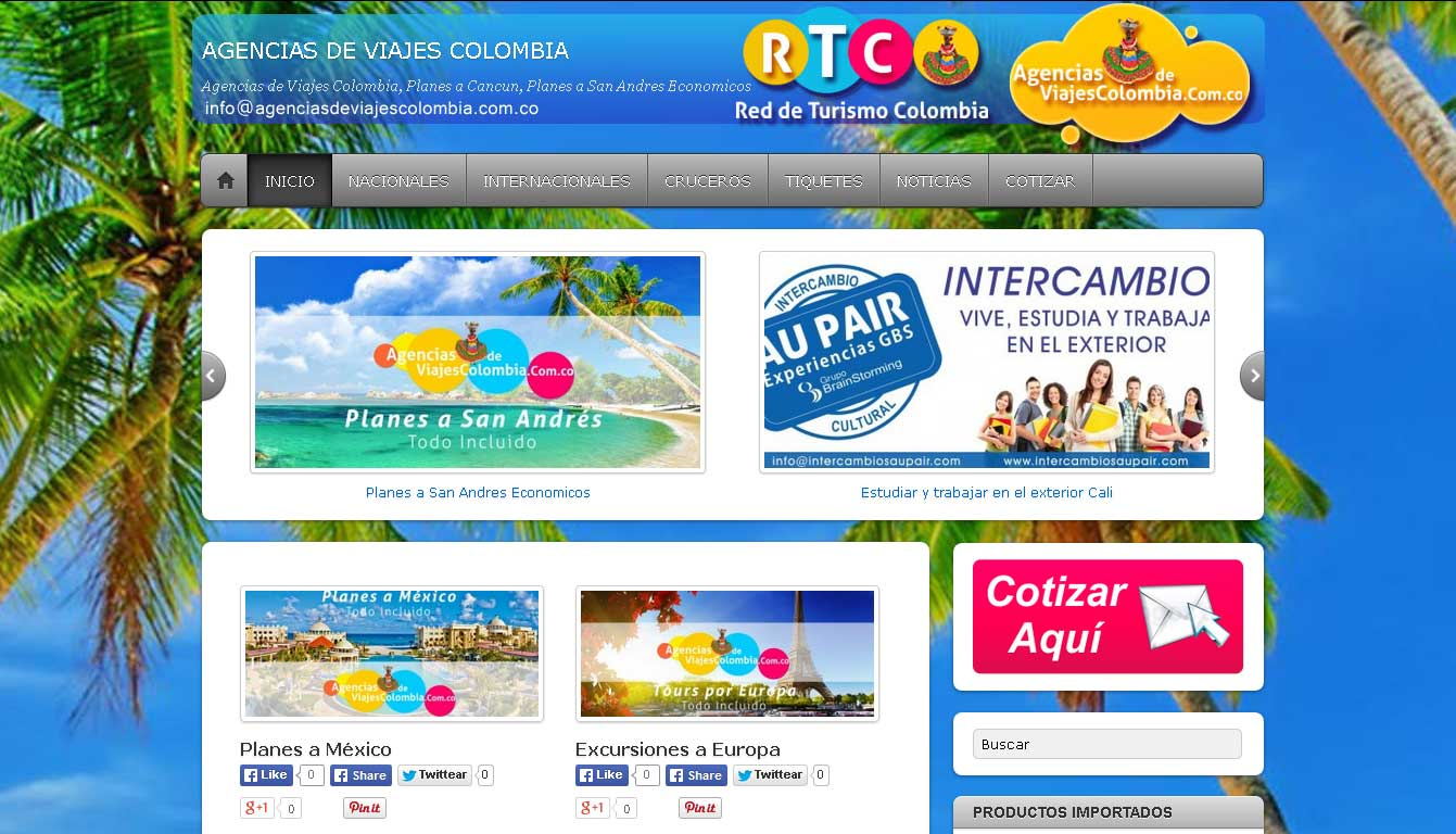 AGENCIAS DE VIAJES COLOMBIA Re De Turismo Colombiana